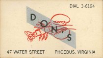 Image of 2015.21.2 - Don's Restaurant Business Card