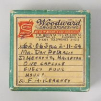Image of 2015.21.3 - Prescription box from Woodward's Drug Store