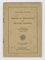 Image of 1984.60.10 - Method of Instructing in Military Courtesy