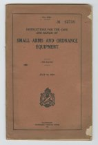 Image of 1984.60.5 - Instructions for the Care and Repair of Small Arms and Ordnance Equipment