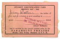Image of 2015.9.13 - Student identification card for Paramount Theatre