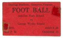 Image of 2015.9.14 - Ticket for football game, Achilles High School vs. George Wythe School