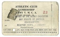 Image of 2015.9.2 - Y.M.C.A. Athletic Club membership card
