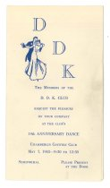 Image of 2015.9.28 - Invitation for D.D.K. 19th Anniversary Dance at Chamberlin Country Club