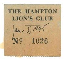 Image of 2015.9.42 - Hampton Lion's Club Ticket