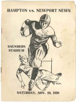 Image of 2015.9.5 - Program for Hampton vs. Newport News football game, 1938