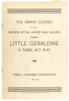 Image of 2015.9.6 - Program for Wythe Junior High School production of Little Geraldine