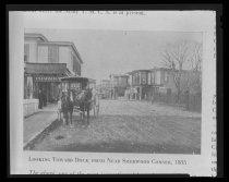 Image of 2009.15.6910 - Looking toward dock from near Sherwood Corner, 1885