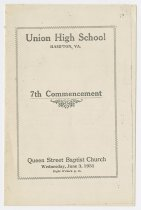Image of X.253.1 - Union High School commencement program