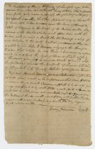 Image of 2016.1.1 - Deposition of Henry Robinson describing fugitive slaves of James Shelton