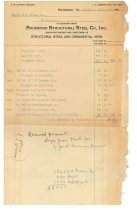 Image of 1990.7.183 - Receipt from Richmond Structural Steel Co. to Sayre Iron Works dated 16 December 1912