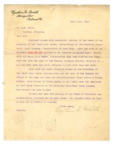 Image of 1990.7.42 - Letter from Wyndham R. Meredith to William H. Power dated 15 June 1912