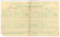 Image of 1990.7.149 - The Chesapeake and Ohio Railway's Telegraphic Car Report