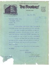 Image of 1990.7.150 - Letter from The Foundry magazine to Sayre Iron Works dated 30 November 1912