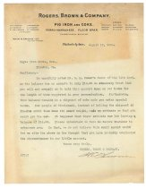 Image of 1990.7.151 - Letter from H.C. Thomson to Sayre Iron Works dated 15 August 1912