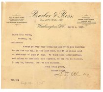 Image of 1990.7.158 - Letter from T.E. Rhodes to Sayre Iron Works dated 4 April 1913