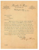 Image of 1990.7.159 - Letter from T.Eugene Rhodes to Sayre Iron Works dated 26 September 1913