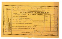 Image of 1990.7.161 - Sayre Iron Works tax receipt for 1911 taxes dated 18 December 1912