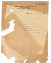 Image of 1990.7.3 - Duplicate of letter from Sayre Iron Works to unknown recipient dated 24 December 1912