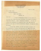 Image of 1990.7.50 - Letter from George Culbreth Thomas to William H. Power dated 17 July 1912