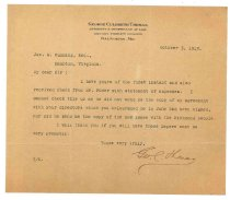 Image of 1990.7.63 - Letter from George Culbreth Thomas to James M. Cumming dated 3 October 1913