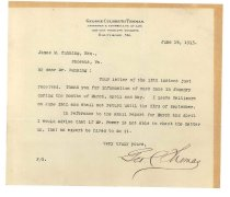 Image of 1990.7.67 - Letter from George Culbreth Thomas to James M. Cumming dated 14 June 1913