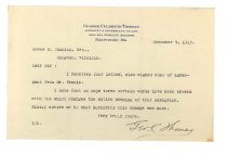 Image of 1990.7.72 - Letter from George Culbreth Thomas to James M. Cumming dated 4 December 1913