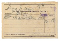 Image of 1990.7.84 - Old Dominion Steamship Company Receipt to Sayre Iron Works dated 18 May 1912