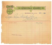 Image of 1990.7.94 - Bill from Clarence Cosby to Sayre Iron Works dated 1 September 1912