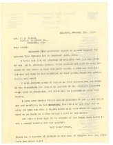 Image of 1990.7.247 - Copy of letter from James S.D. Cumming to Grace D. Riedel dated 9 January 1923