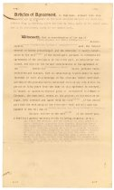 Image of 1990.7.303 - Articles of Agreement for Columbia Avenue properties between James M. Cumming, agent for Mary C. Hess, and W.C. Richardson dated 16 February 1918