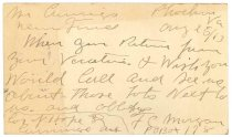 Image of 1990.7.319 - Postcard from F. C. Morgan to James M. Cumming dated 25 August 1913