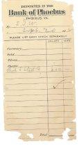 Image of 1990.7.340 - Bank of Phoebus deposit receipt dated 20 September 1912