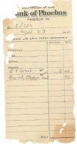 Image of 1990.7.341 - Bank of Phoebus deposit receipt dated 23 September 1912