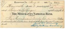 Image of 1990.7.361 - Merchants National Bank bond signed by James S. D. Cumming and Sally Wilkins Cumming paying to the order of Louis Heffelfinger, dated 16 August 1925