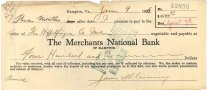 Image of 1990.7.364 - Merchants National Bank bond signed by James S. D. Cumming paying to the order of Heffelfinger Co., dated 9 January 1926