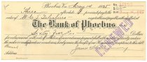 Image of 1990.7.368 - Bank of Phoebus bond signed by James S. D. Cumming paying to the order of W. G. S. Taliaferro, dated 14 May 1925