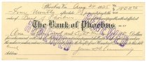 Image of 1990.7.371 - Bank of Phoebus bond signed by James S. D. Cumming paying to the order of the Bank of Phoebus, dated 24 August 1925