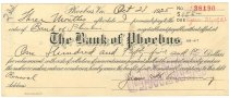 Image of 1990.7.375 - Bank of Phoebus bond signed by James S. D. Cumming paying to the order of the Bank of Phoebus, dated 21 October 1925