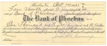Image of 1990.7.376 - Bank of Phoebus bond signed by James S. D. Cumming paying to the order of the Bank of Phoebus, dated 24 October 1925