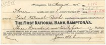 Image of 1990.7.382 - First National Bank bond signed by James S. D. Cumming paying to the order of the First National Bank, dated 14 May 1925