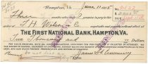 Image of 1990.7.383 - First National Bank bond signed by James S. D. Cumming paying to the order of J. H. Wilson and Co., dated 11 June 1925