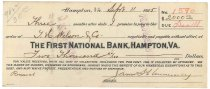 Image of 1990.7.385 - First National Bank bond signed by James S. D. Cumming paying to the order of J. H. Wilson and Co., dated 11 September 1925