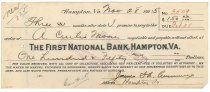 Image of 1990.7.390 - First National Bank bond signed by James S. D. Cumming paying to the order of A. Curtis Moore, dated 28 November 1925