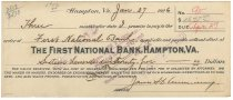 Image of 1990.7.392 - First National Bank bond signed by James S. D. Cumming paying to the order of the First National Bank, dated 27 January 1926