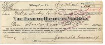 Image of 1990.7.394 - Bank of Hampton bond signed by James S. D. Cumming paying to the order of the Phillips-Lackey Co., Inc., dated 28 August 1925