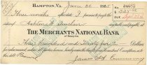 Image of 1990.7.359 - Merchants National Bank bond signed by James S. D. Cumming paying to the order of Ashton W. Sinclair, dated 26 June 1925