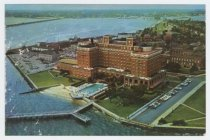 Image of CC2016.31.1 - Postcard with aerial image of the Chamberlin Hotel