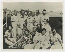 Image of CC2016.31.7 - Group of women at Buckroe Amusement Park