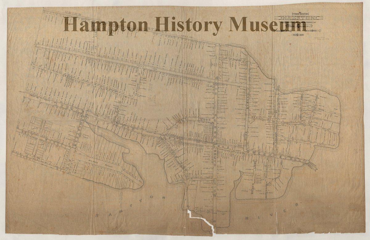 2017.15.5 - Town Map of Hampton (1893)